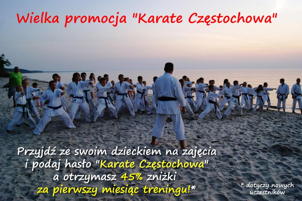 Promocja na trening karate dla dzieci w Częstochowie