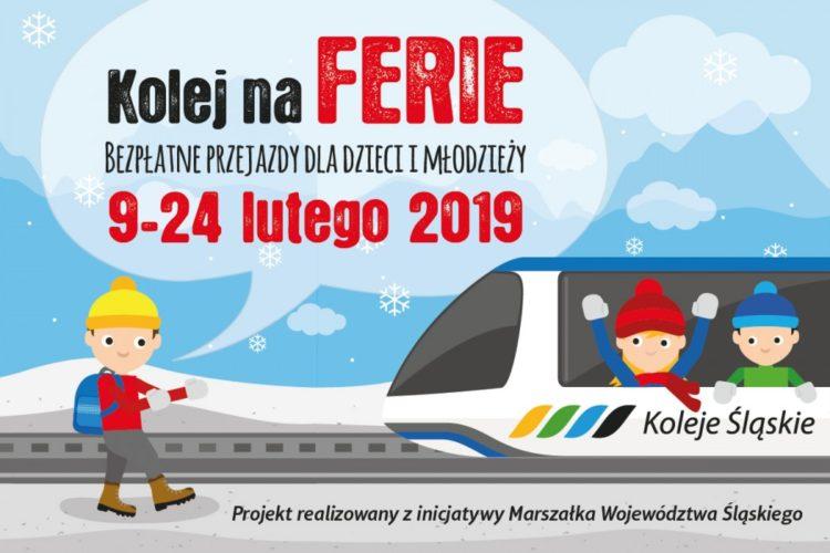 W czasie ferii dzieci i młodzież jeżdżą pociągami Kolei Śląskich za darmo!