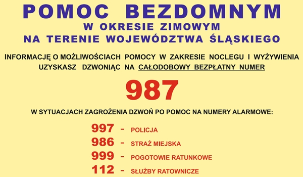 987 – POMOC BEZDOMNYM