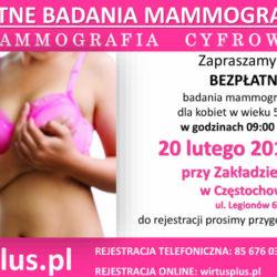 BEZPŁATNA MAMMOGRAFIA - 20 lutego w Częstochowie